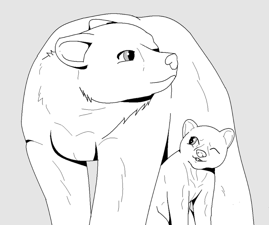 Line Art Bear : Hi my name is stargazer and i d like to collab with