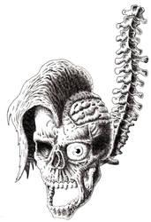 Skull and Vertebra. by Paulzuzust