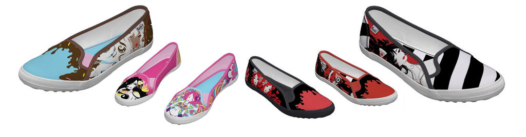Zazzle shoes- All 6 designs by Blush-Art