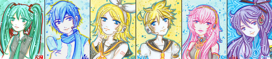 vocaloid cards- set by Blush-Art