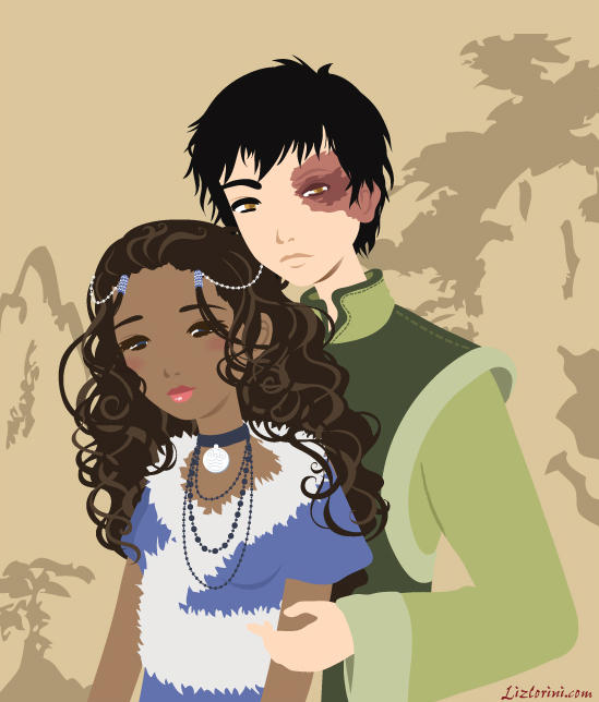 Zuko and Katara by Blush-Art