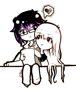 Chibi Drawing Couple by Benzi-Rae on DeviantArt