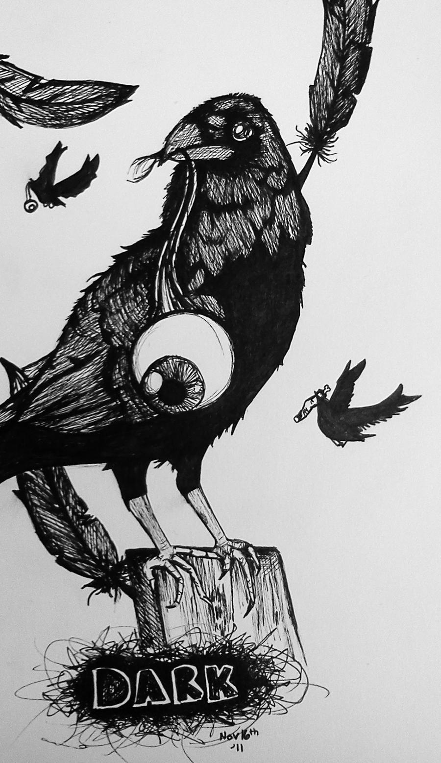 Dark, Crow by Benzi-Rae on DeviantArt