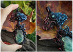 Elemental Tree Necklace - Fire And Water