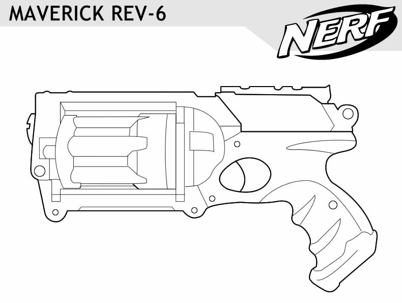 free coloring pages of nerf gun pictures 590x529 home