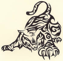 Tribal Tiger by Ruttan