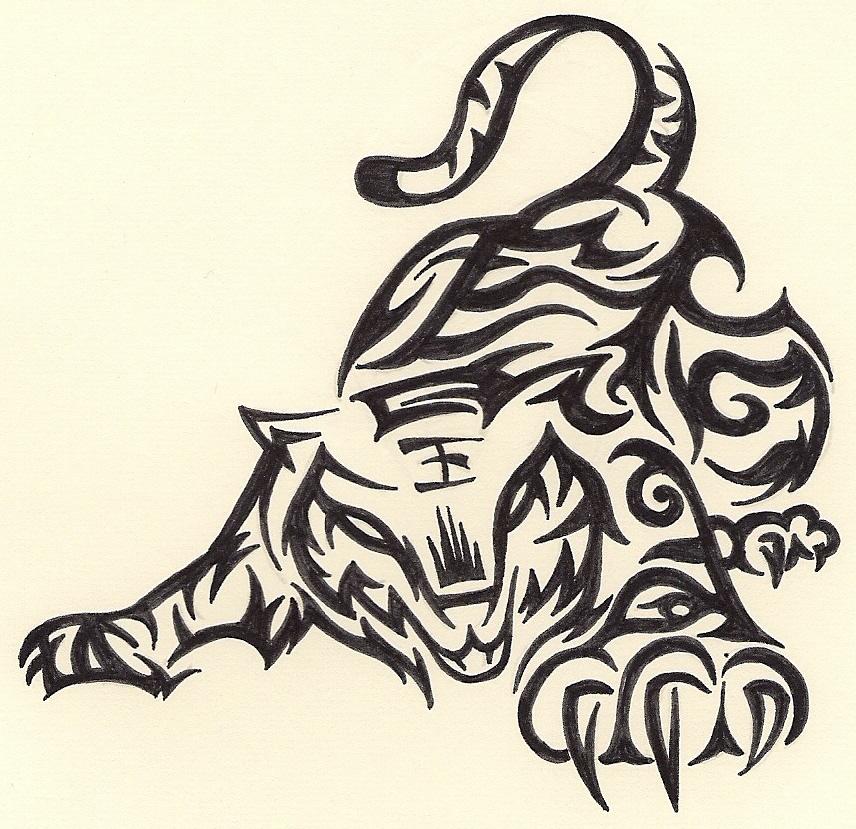 Tribal Dragon Tiger | www.pixshark.com - Images Galleries ...