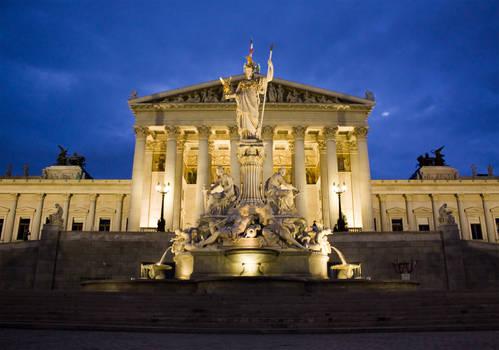 Vienna parliament by CookiemagiK