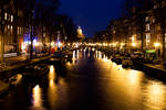 Shiny canals of Amsterdam