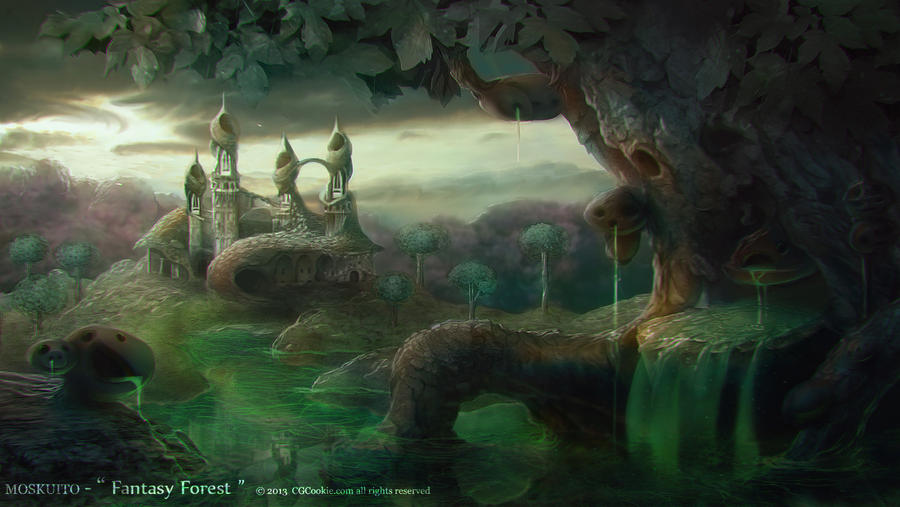 Landscapes part one: Fantasy Forest by MOSKUITO on DeviantArt
