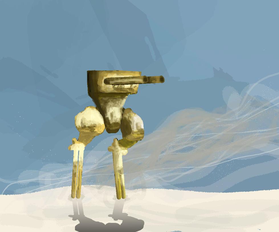 Golden Mech by stealth-ninja-65