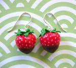 Chocolate Strawberry Earrings