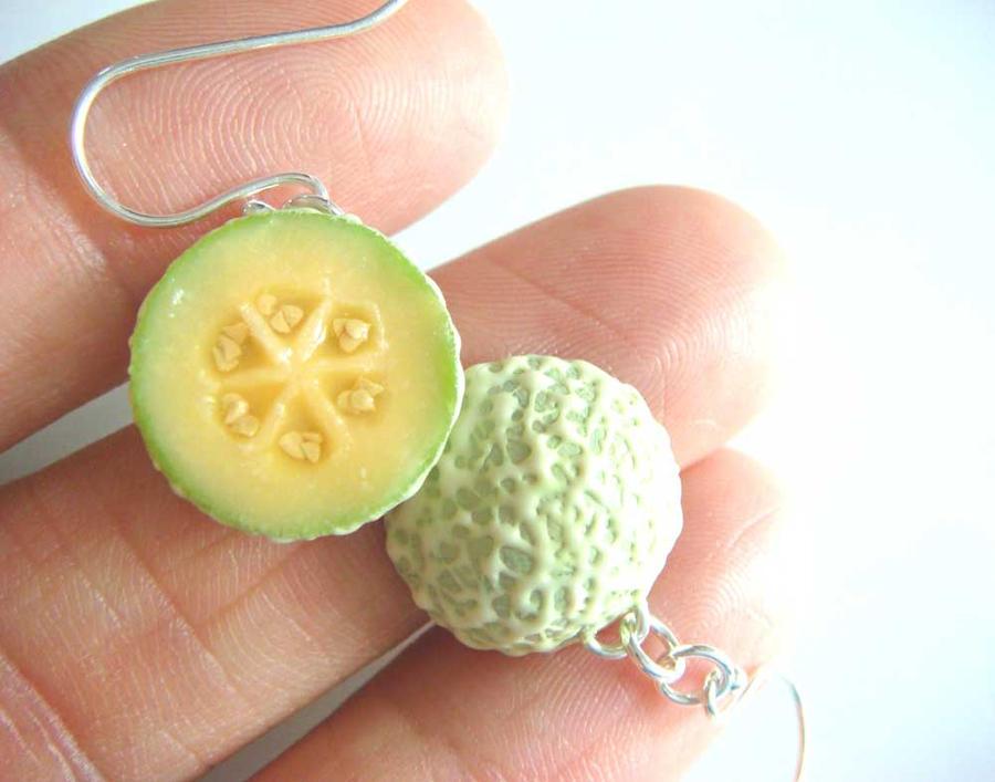 Cantaloupe Earrings by KawaiiCulture
