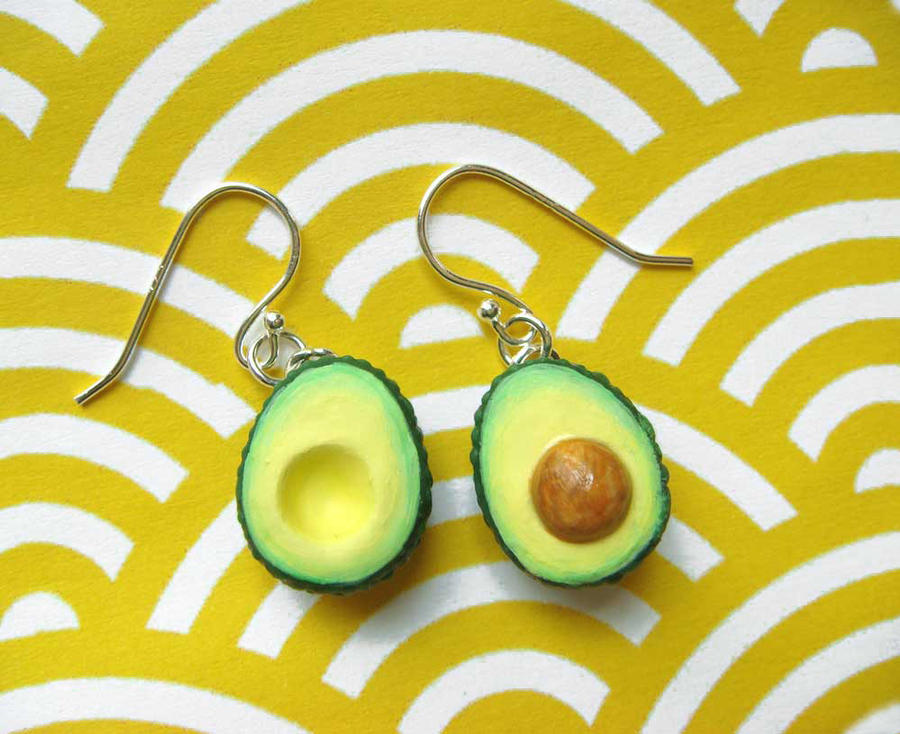 Avocado Earrings by KawaiiCulture