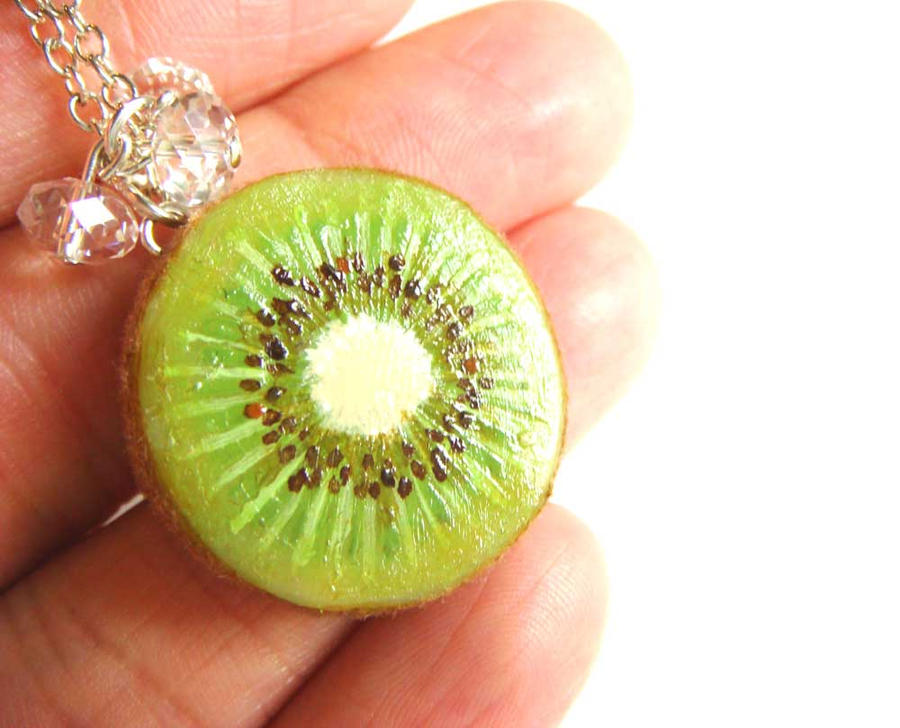 Revised Kiwi Necklace by KawaiiCulture