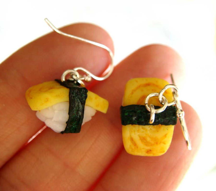 Tamago Sushi Earrings by KawaiiCulture