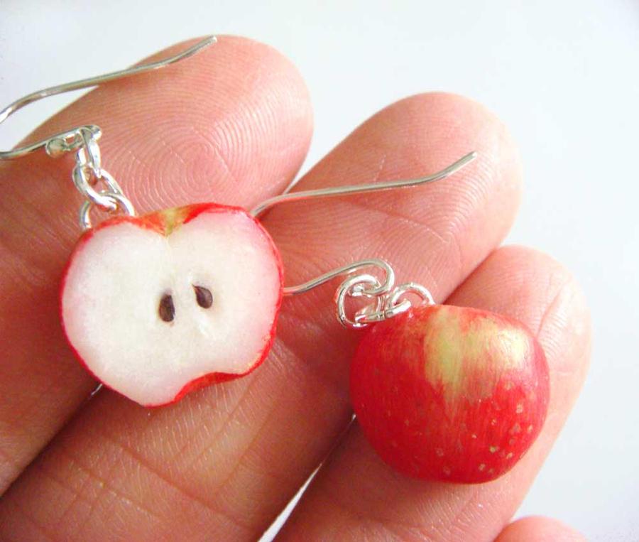 Apple Earrings by KawaiiCulture