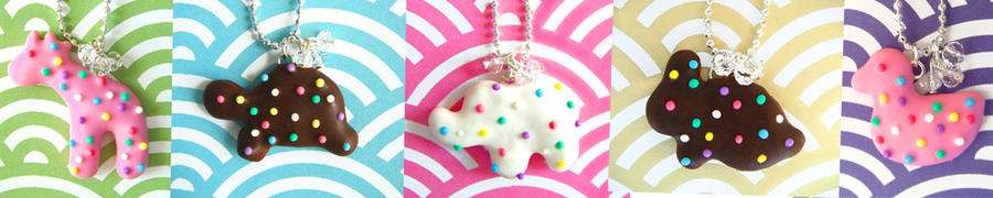 Animal Cookie Necklaces by KawaiiCulture