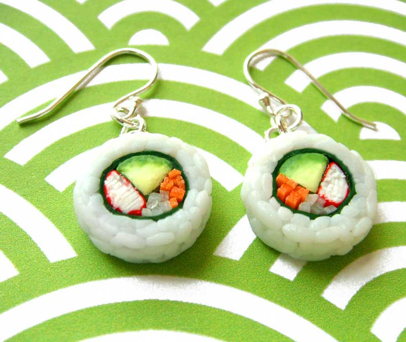 Sushi Earrings by KawaiiCulture