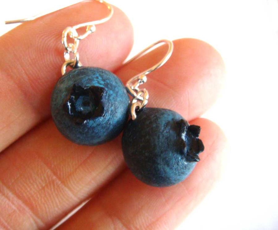 Blueberry Earrings by KawaiiCulture