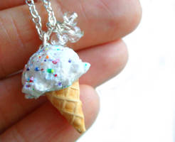 Rainbow Ice Cream Necklace by KawaiiCulture