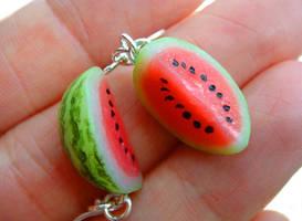 Watermelon Earrings by KawaiiCulture