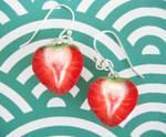 Sliced Strawberry Earrings