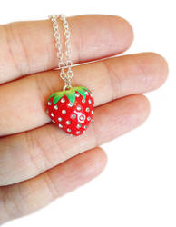 Sparkly Strawberry Necklace