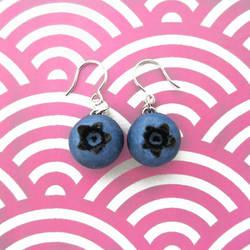 Blueberry Earrings -Silver by KawaiiCulture