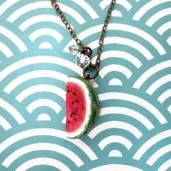 Watermelon Necklace by KawaiiCulture