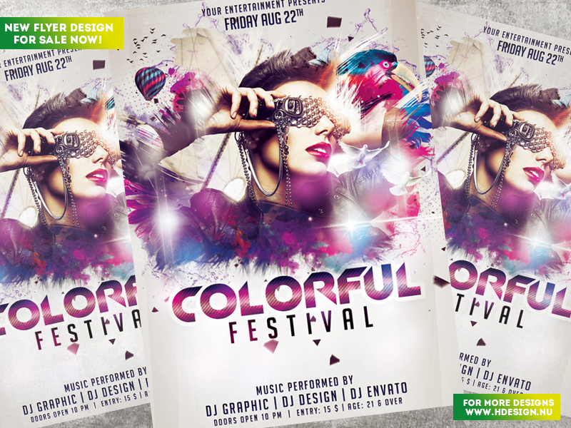 Colorful Festival Flyer by HDesign85