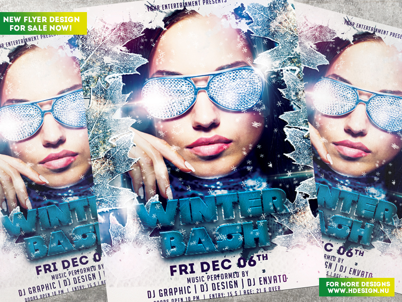 Winter Bash Flyer by HDesign85