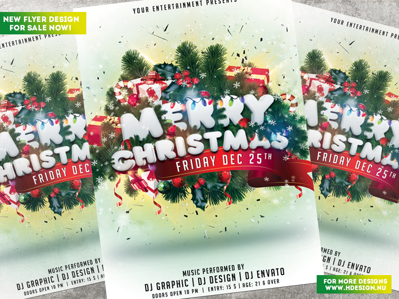 Merry Christmas Flyer by HDesign85