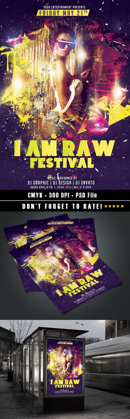 I AM RAW Festival by HDesign85