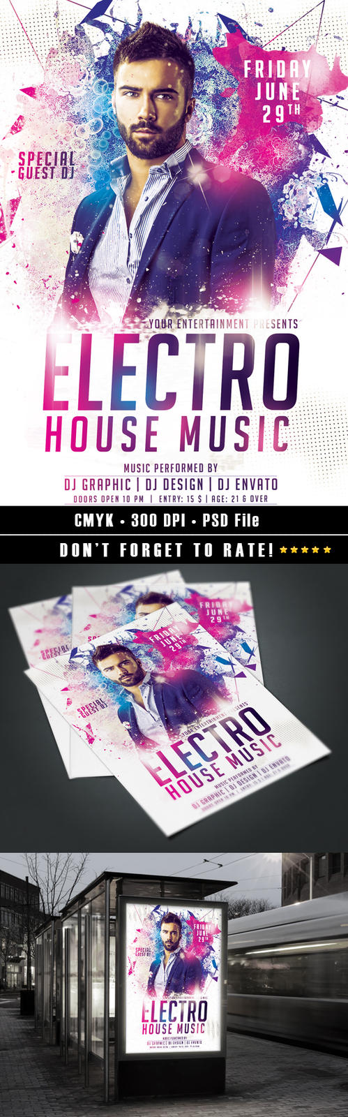 Electro House Flyer by HDesign85