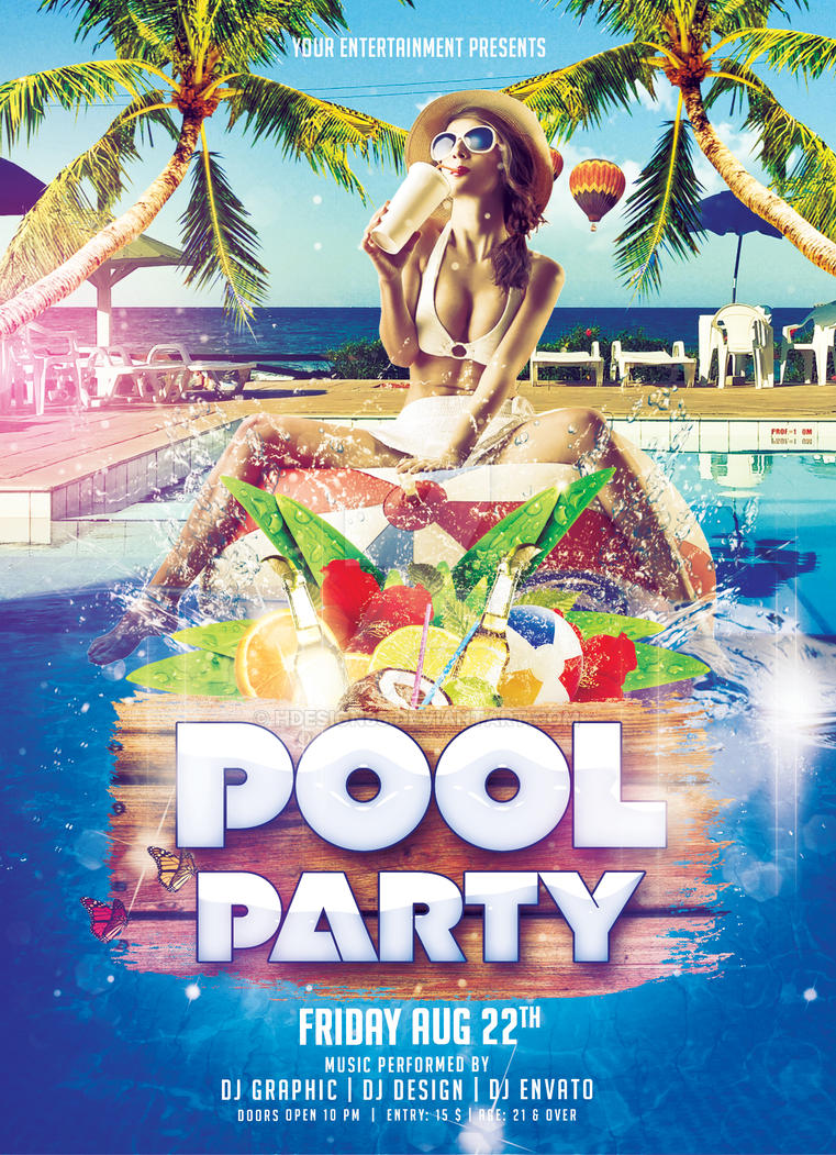 Pool party flyer by hdesign85 on deviantart for Pool design templates