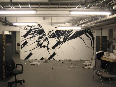 abstract wallpainting