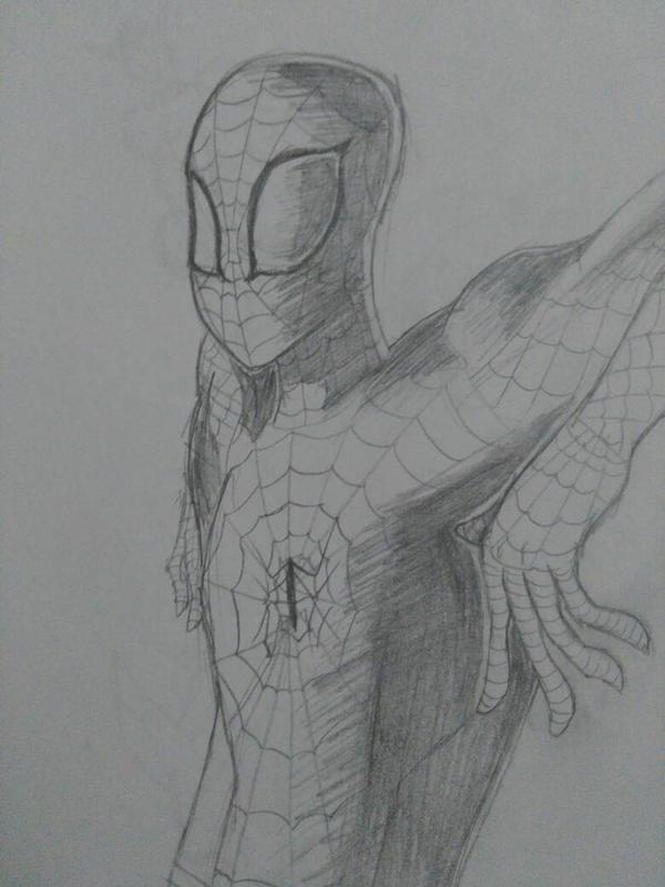 Spiderman sketch  by PurpleLava8