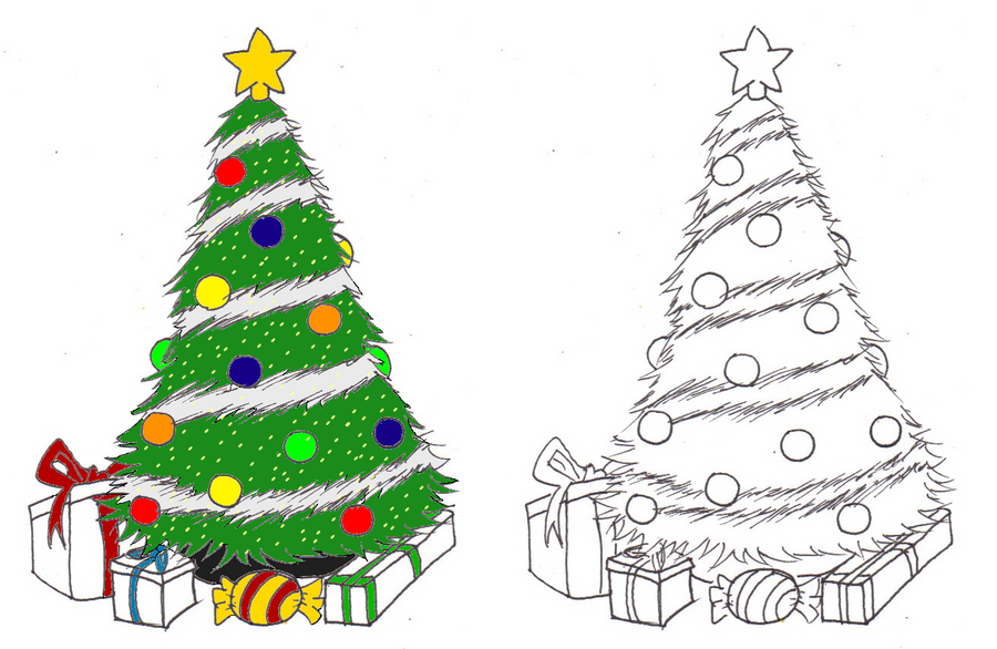 How to draw a christmas decoration - Christmas Tree By Buffalodude44 On Deviantart