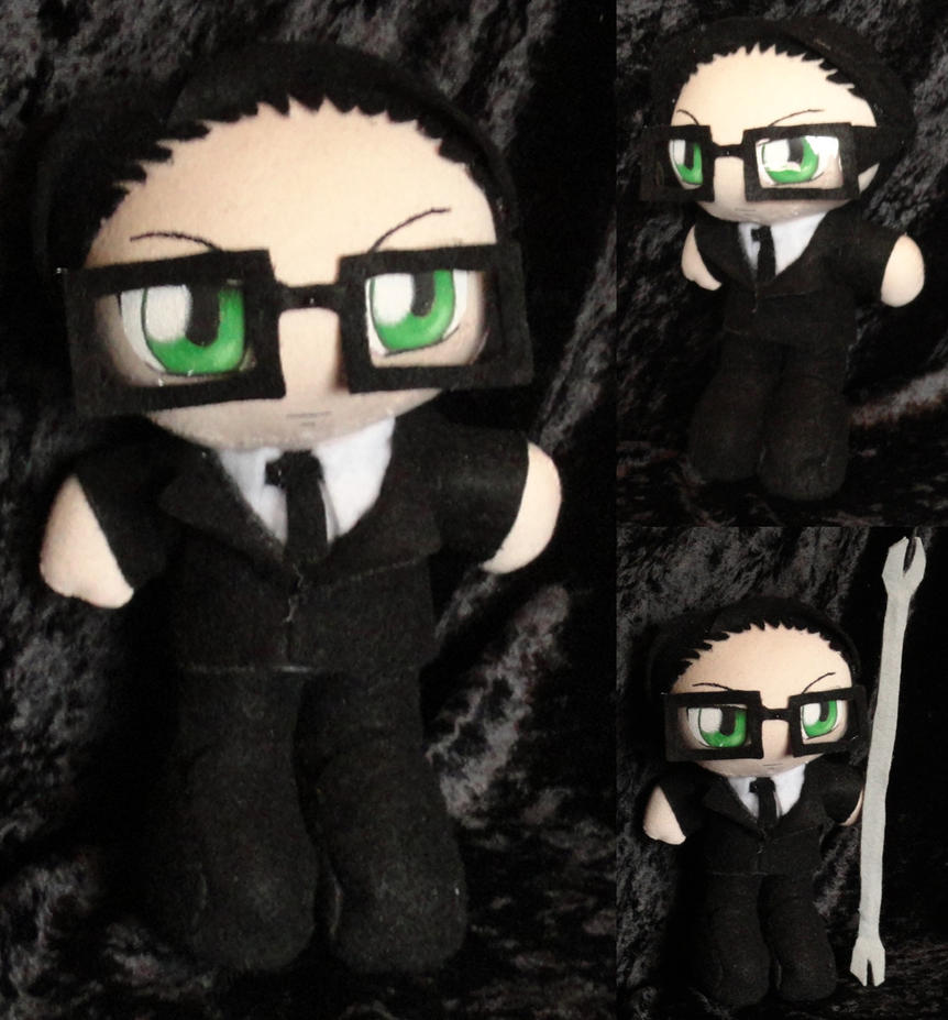Commission Mini Plushie William T. Spears by LadyoftheSeireitei