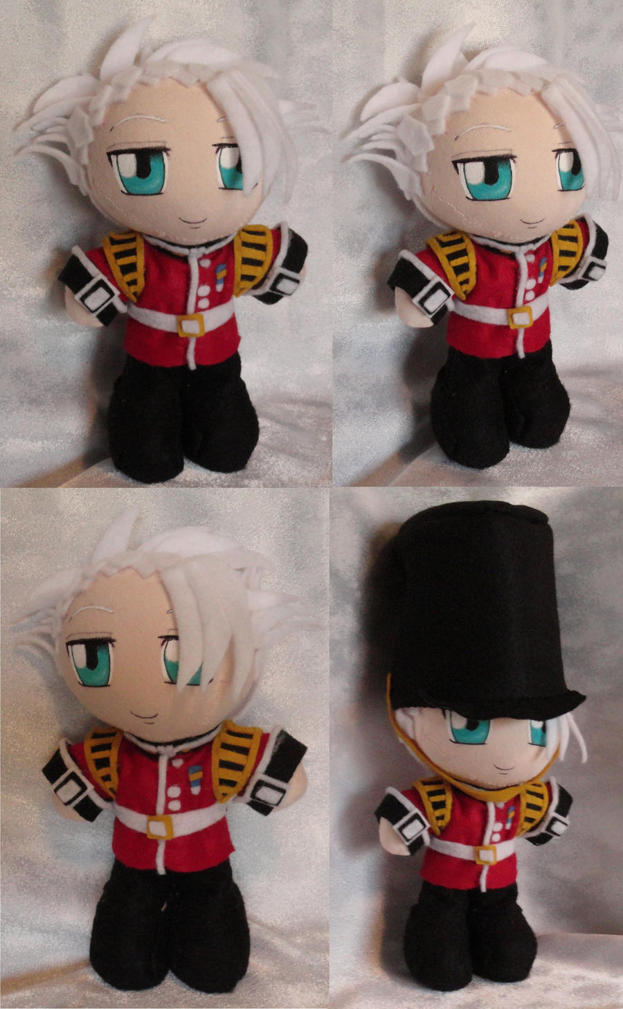 Commission Mini Plushie Military Toshiro Hitsugaya by ThePlushieLady