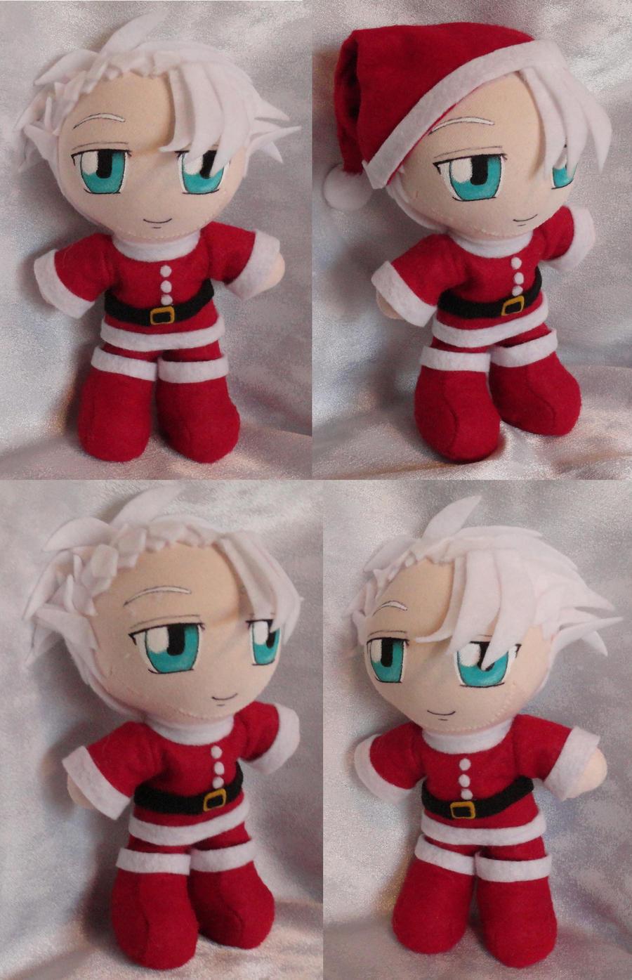 Commission Mini Plushie Santa Toshiro Hitsugya by LadyoftheSeireitei