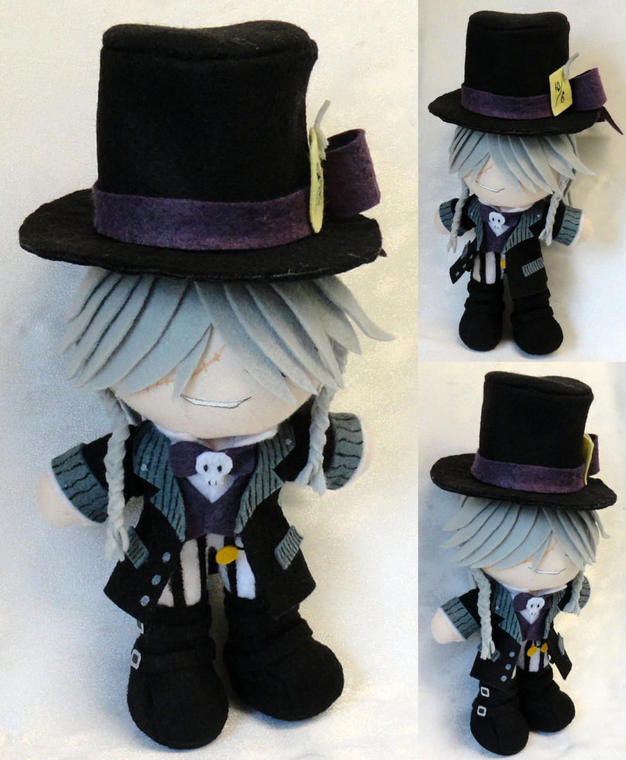 Mini Plushie Mad Hatter Undertaker by LadyoftheSeireitei