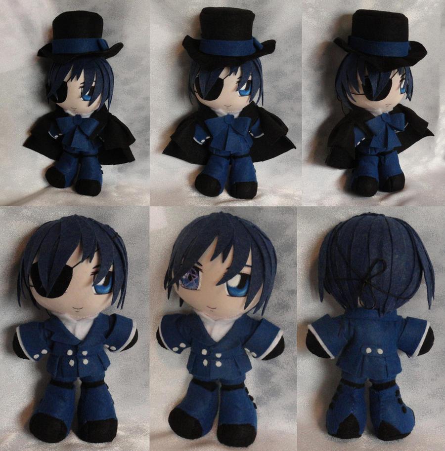 Mini Plushie, Ciel Phantomhive, Blue Ensemble by ThePlushieLady
