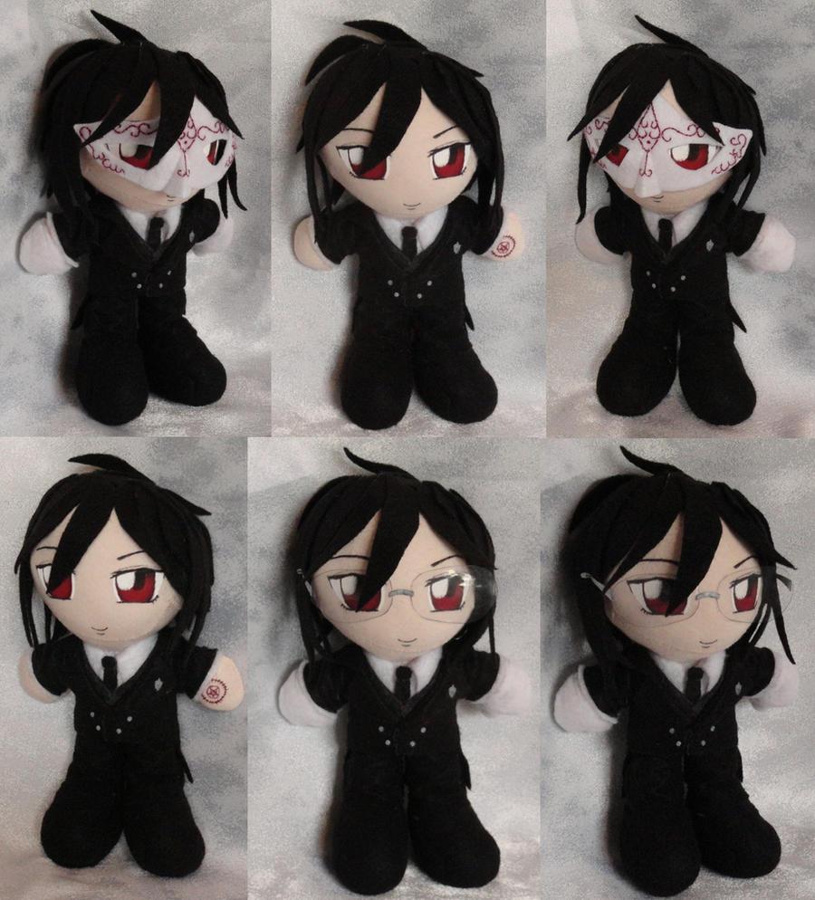 Mini Plushie Sebastian Michaelis by LadyoftheSeireitei