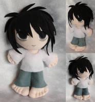 Commisson, Mini Plushie Ryuzaki by ThePlushieLady