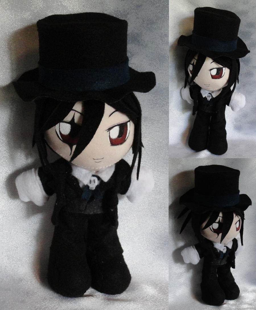 Mini Plushie, Sebastian Michaelis as Black by LadyoftheSeireitei