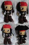 Commission, Mini Plushie Captain Jack Sparrow