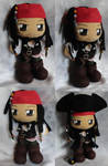 Commission, Mini Plushie Captain Jack Sparrow