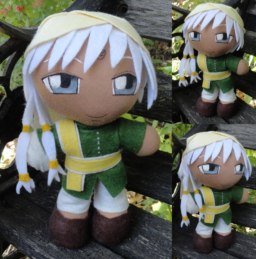 Commission, Mini Plushie Agni, Green Ensemble by LadyoftheSeireitei
